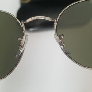 Ray-Ban blue silver tinted round frame sunglasses